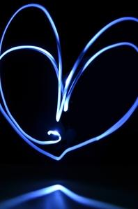 blue heart liten