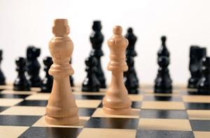chess hårt ljus