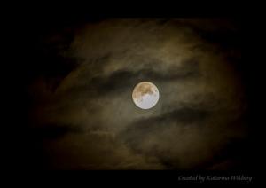 Moon hiding